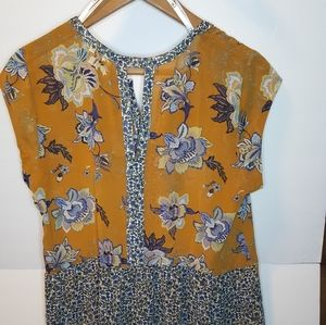 DR2 Sheer Top Brown with blue size M